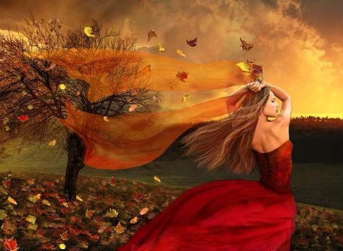 Осень ... Задрожали листы, облетая, Тучи неба закрыли красу ... Автор А. Фет